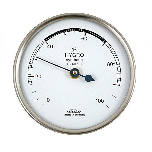 Fischer 150CR Hygrometer synthetic für innen, Chrom Farben, Manufaktur aus Deutschland