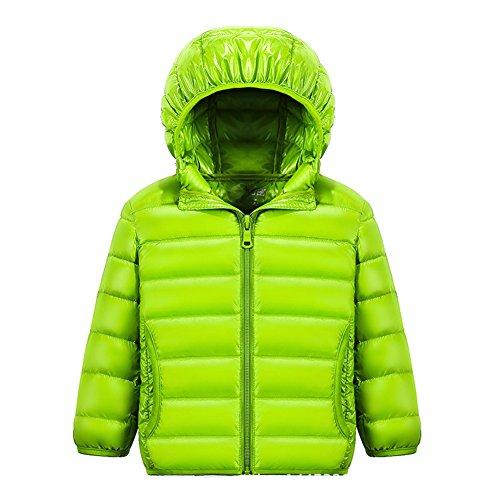 ON Kinder Daunenjacke Winterjacke leicht dünn Daunenmantel Jungen Mädchen down Jacket mit Kapuze