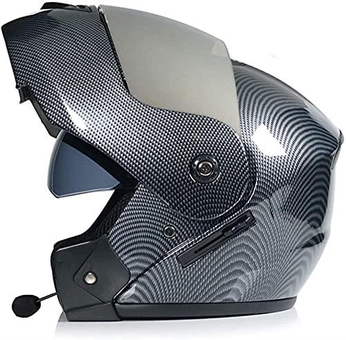 Casco para Moto con Bluetooth,Cascos Modular Flip Up Motocicleta Doble Visera Anti Niebla HD Reducción de Ruido Dot/ECE Aprobado con Altavoz Incorporado para Adultos (Color : 21, Size : L)