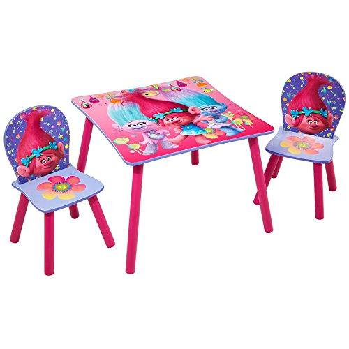 Worlds Apart Trolls - Set aus Tisch und 2 Stühlen für Kinder