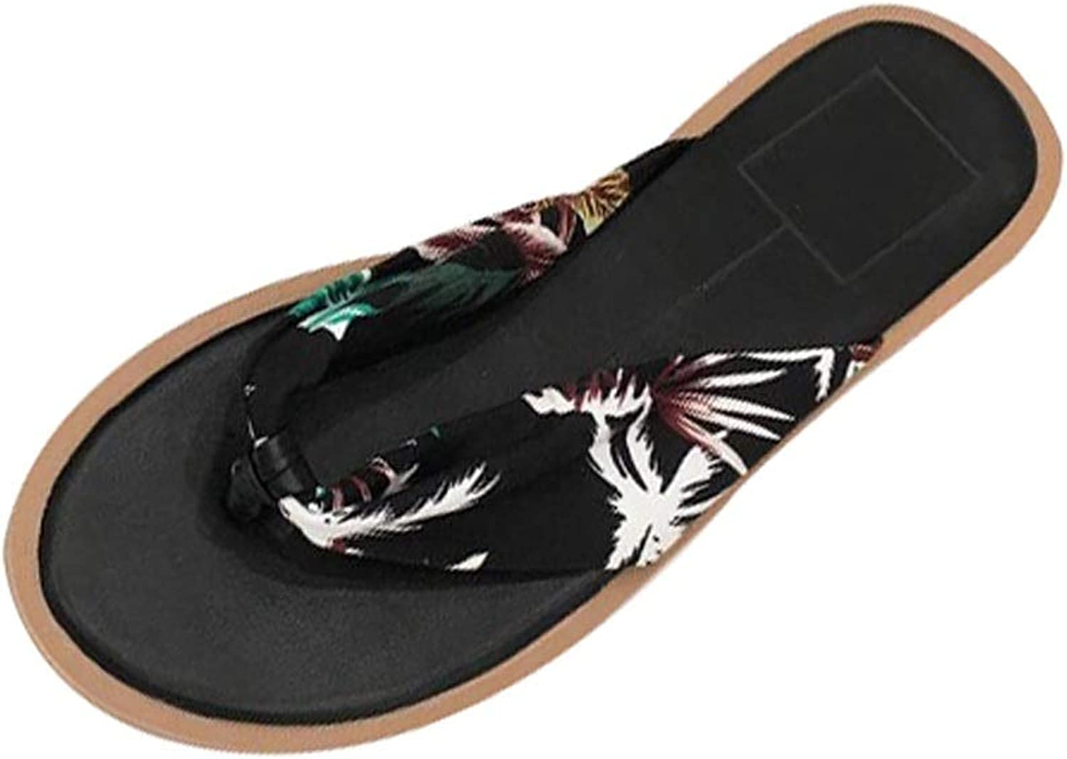 Fanxu Women's Flip Flops,Beach Sandals Summer Flat Slip Non-Slip Flip-Flops (3colors shoes Size 3539)