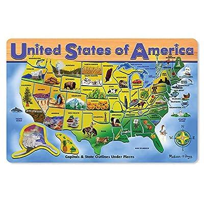 Melissa & Doug USA Map Puzzle 45 pcs by Melissa & Doug