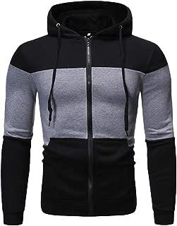 2019 Sweatshirts for Men Hoodies Fashion Print Jackets Top Winter Slim Comfor Big and Tall Casual Zipper Coats Outwear