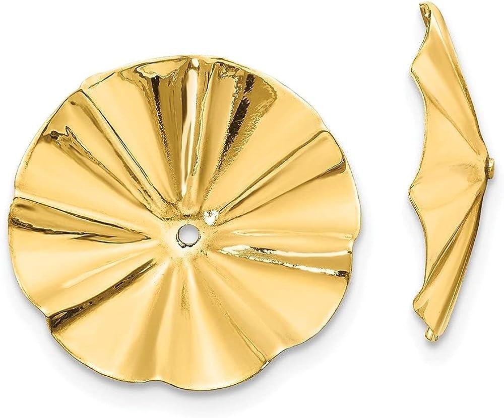 14k Yellow Gold Fancy Earring Jackets (L-11 mm, W-11 mm)