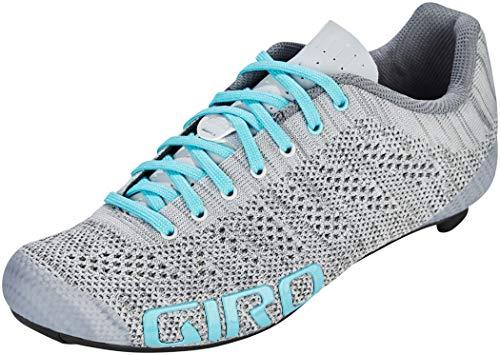 Giro Empire W E70 Knit Womens Road Cycling Shoe − 40, Grey Heather/Glacer (2020)