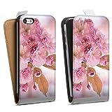 DeinDesign Étui Compatible avec Apple iPhone 5c Étui à Rabat Étui magnétique Fleurs de...