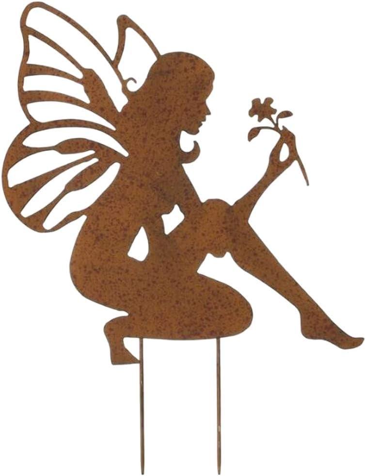 Rare LOVIVER New popularity Angel Fairy Garden Stakes Ornaments Pati Metal