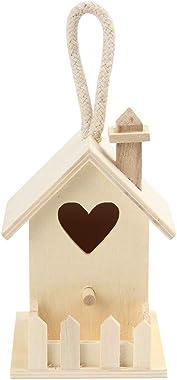 Lumumi Hummingbird Feeder Outdoor, Hanging Bird Feeder Squirrel Proof for Outside/Garden/Home-Wooden Birdhouse