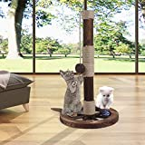 <span class='highlight'>JR</span> <span class='highlight'>Knight</span> Cat Scratching Post Cat Tree Cat Timber Tower Toy Play Post with Two Sisal Balls (35X60cm)