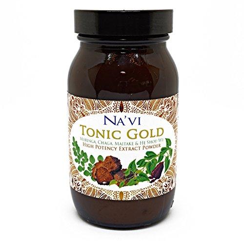 Tonic Gold - Café de hierbas - Extracto de espectro completo Elixir (90 g) 180 tazas