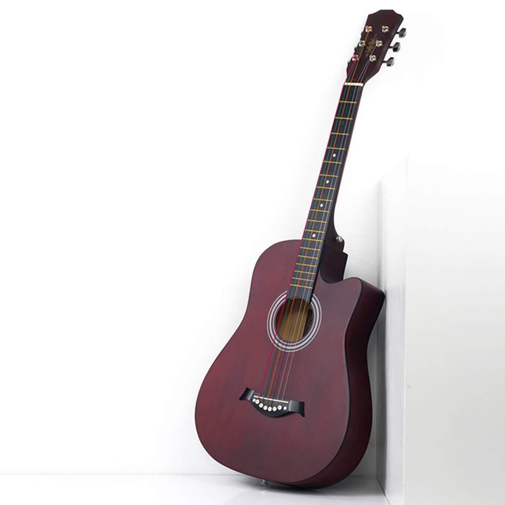 Miiliedy Best Choice Folk Pop Guitar Beginners Aprender Aprendizaje automático Guitarra acústica de 38 pulgadas Kit de guitarra con estuche de guitarra Correa para el hombro Conjunto de cuerdas Sinton: Amazon.es: Instrumentos