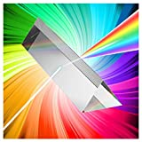 MerryNine 三角プリズム 光学ガラス K9クリスタル プリズム 物理学 光の分散 教学ツール 撮影 虹造り 100 mm 携帯用袋・クロス付き ギフトボックス梱包み
