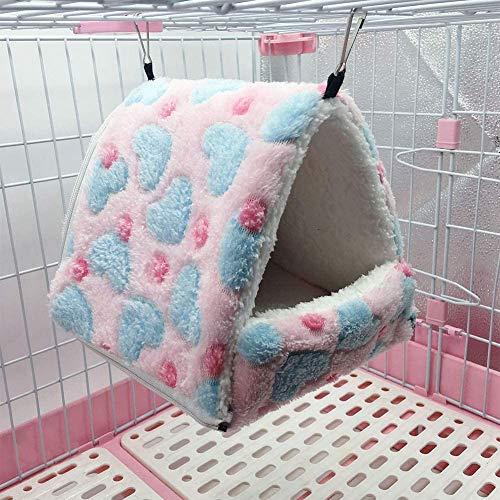 Turtle Story Extraíble Columpio Carpa Mascotas pequeñas algodón Caliente Nido Juguete for el Color hámster Erizo Ardilla café 14 * 12, Color: Café Color-14 * 12 JXNB (Color : Pink-14 * 12)