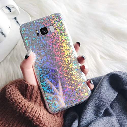 Herbests Kompatibel mit Samsung Galaxy S8 Hülle Silikon Glänzend Bling Glitzer Pailletten Schutzhülle Ultra Dünn Durchsichtig Case Tasche Crystal TPU Weiche Silikon Rückseite Hülle,#2