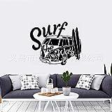 Creativo Turismo Bus Surf Thewave Patrón Pegatinas Decoración Del Hogar Dormitorio Sala De Estar 57X68Cm