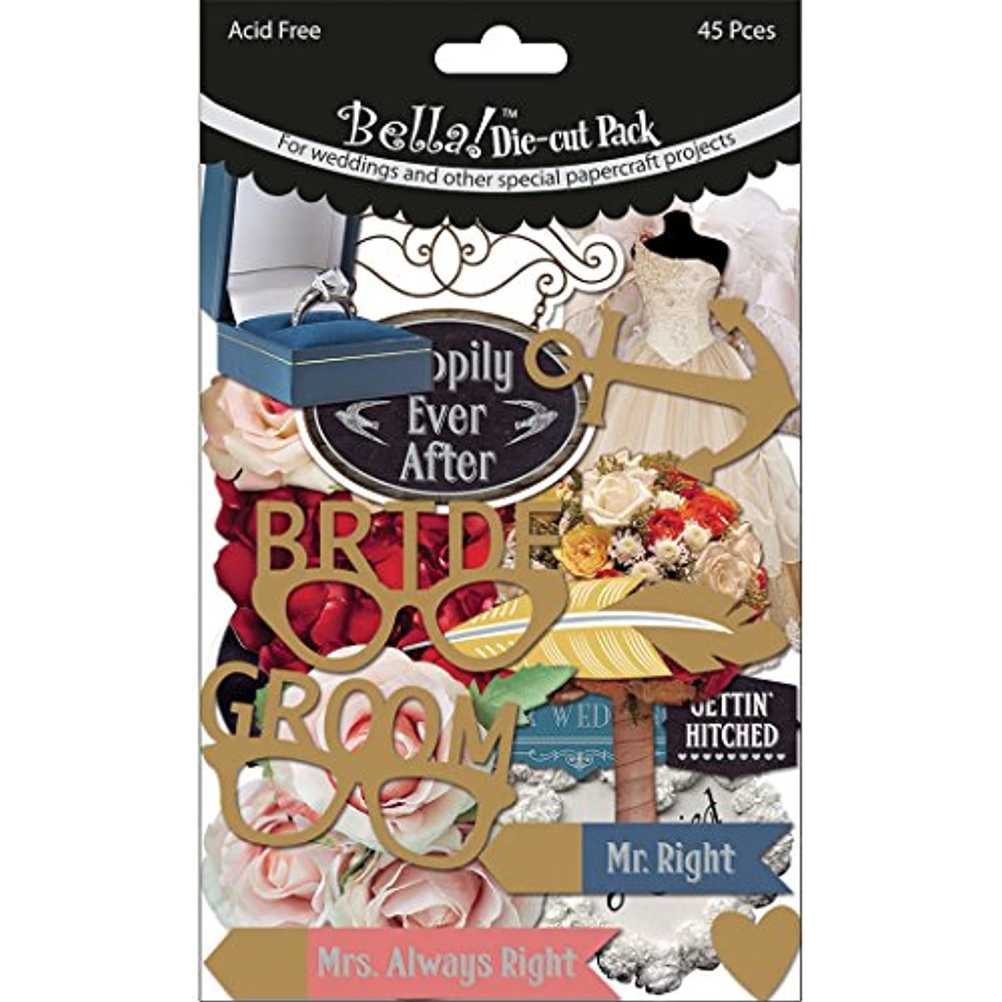 Ruby Rock-It Bella! Wedding Cardstock Die-Cuts (45 Pack) hcjxtrigaxt098