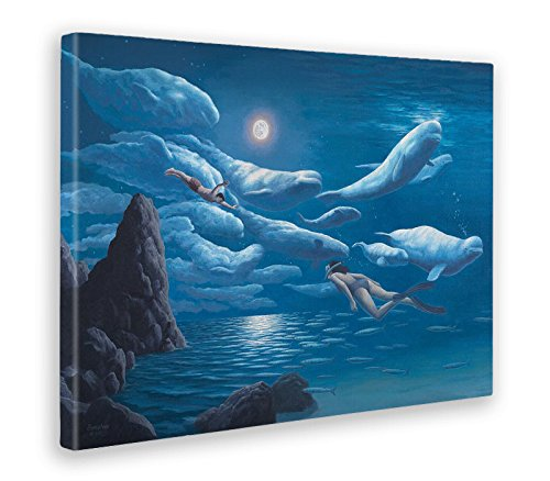 Giallo Bus - Print op canvas op houten frame - Rob Gonsalves - Union Of The Sea and Sky - 100 X 140 Cm