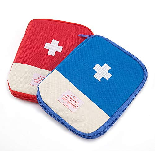 2 Piezas Botiquín De Primeros Auxilios, Mini Kit Primeros Auxilios, Bolsa Médica Vacio Bolso De Primeros, Medicina Vacío Bolsa De Viaje, Para Coche, Hogar, Cámping, Deportes Al Aire Libre