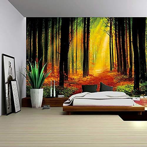 Toalla de pared Phi para el hombro, toalla de playa retro, tapiz, poliéster, decoración de pared, planta bosque, aplicable, una decoración perfecta de dormitorio y salón, 130 x 150 cm