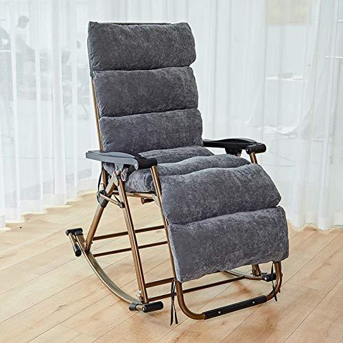 Mecedora silla de salón para adultos y ancianos balcón casa mecedora plegables siesta silla...