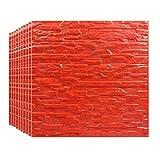gxxvip-lockers carta da parati del mattone 3d, modello di mattoni muro adesivi, automatic adesivo wallpaper for soggiorno camera da letto, 50 x 50cm (color : red, size : 10 pcs)