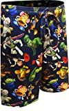 Mad Engine Men's Toy Story Characters Collage Lounge Shorts (Large) Navy Blue