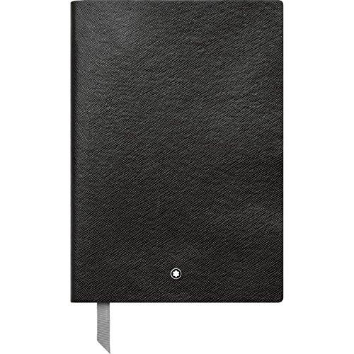 Montblanc Notebook 113637 Fine Stationery #146 – Leder Notizbuch A5 kariert mit Softcover – Farbe: Black – 192 Seiten