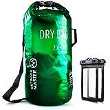 OutdoorMaster Dry Bag- 5L/10L/20L Stylisher Leichter Trockensack mit 2 freie Wasserdichte Handybeutel & Float Handschlauf- Wasserdichte Tasche für Schwimmen, Bootfahren, Angeln & Snowboarden(20L)