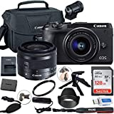 Canon EOS M6 Mark II Mirrorless Digital Camera (Black) with 15-45mm Lens and EVF-DC2 Viewfinder + Canon Shoulder Bag + 128GB Sandisk Memory Card + Grip Steady Tripod + Lens Tulip Hood & More.