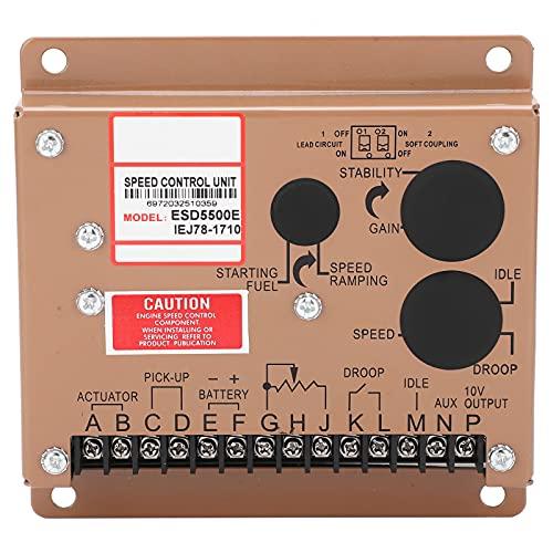Regulador de velocidad del motor Generador Módulo de control electrónico Piezas del grupo electrógeno ESD5500e DC 12V/24V Adecuado para Cummins/Volvo Fukang/GAC Generator Set