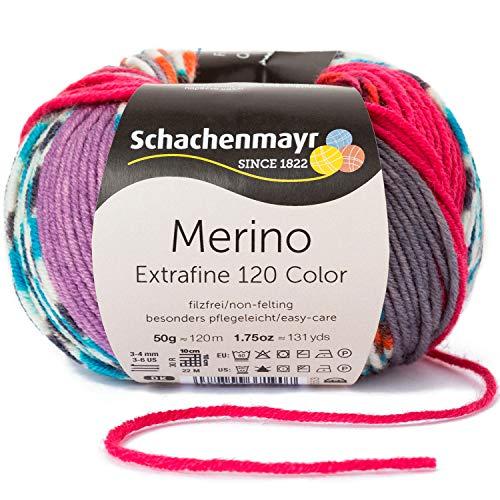 Schachenmayr Merino Extrafine 120 Color, 9807553-00490, Farbe:Kopenhagen Mix, Handstrickgarne