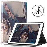 Funda Protectora para iPad 9.7, Dos Perros en una Tienda de campaña 2018/2017 iPad 5ta / 6ta generación Funda Protectora de iPad de 9.7 Pulgadas También se Ajusta al iPad Air 2 / iPad Air Au
