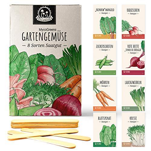 Gemüse Samen Set mit 8 Sorten Saatgut samenfest - für Garten, Hochbeet & Balkon mit...