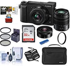 $497 » Panasonic Lumix DMC-GX85 Mirrorless Camera Black with Lumix G Vario 12-32mm f/3.5-5.6 & 45-150mm F4.0-5.6 Lenses - Bundle with Camera Case, 32GB SDHC Card, 52mm Filter Kit, Mac Software, and More