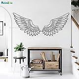 Hjnsxs Tribal Big Wings Angel Vinilo Pared calcomanía Memorial Guardian Inspirador Color Personalizado Impermeable decoración del hogar Mural-100X42cm
