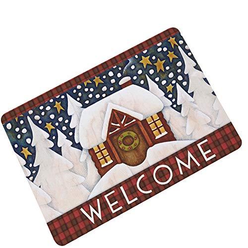 Lannister Teppich Weihnachten Schmutzmatte Boden Pflaster Gummi Rutsch Wasser Warm Festlich Küche Bauxit Öl Absorbierende Starter Schmutz Fangmatte (Color : 18, Size : 60x90cm)