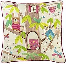 Arthouse, Kids Woodland Fairies Throw Pillow, Children's Bedroom Décor