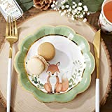 Kate Aspen Woodland Baby Shower, 7 Inch, 7 in. Decorative Premium Paper Plates (Set of 16)