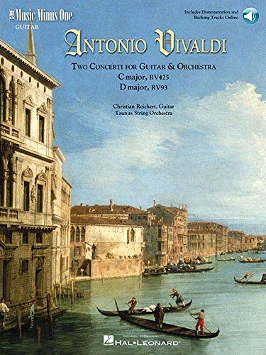 Vivaldi Two Concerti for Guitar Lute & Orchestra: C Major, Rv425 F. V/1; D Major, Rv93 F. XII/15