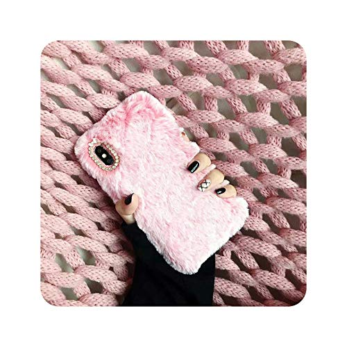 Funda para iPhone XS Max XR X con correa de muñeca cálida para iPhone 6, 6S, 7, 8 Plus, suave TPU, para iPhone X, color rosa
