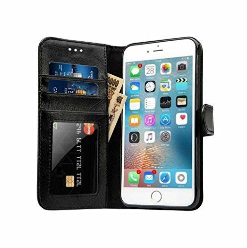 Deet® - Funda para iPhone 5S (función atril, tarjetero)