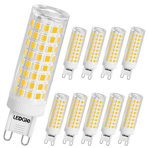 LEDGLE 10W G9 Bombillas LED, Equivalente a Halógeno de 100W, 100 LEDs, 900lm Blanco Cálido 3000K, Sin Parpadeo, No...