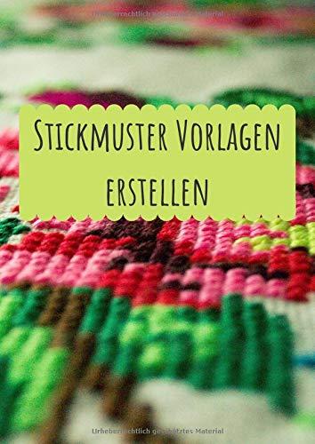 Stickmuster Vorlagen erstellen: Millimeterpapier zum Entwerfen eigener Stickmuster und Embroidery Designs   Sticken   Punch Needle   Stickmuster entwerfen   Stickmuster Papier