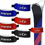 6 Piezas Gancho y Bucle Cinta de Sujeción Correas de Esquí Correas Envolturas Ajustables de Esquís para Familias Hombre Mujer Niños (Rojo, Negro, Azul)