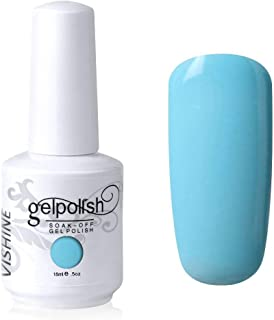 Vishine Gelpolish Professional Manicure Salon UV LED Soak Off Gel Nail Polish Varnish Color Light Blue(1341)