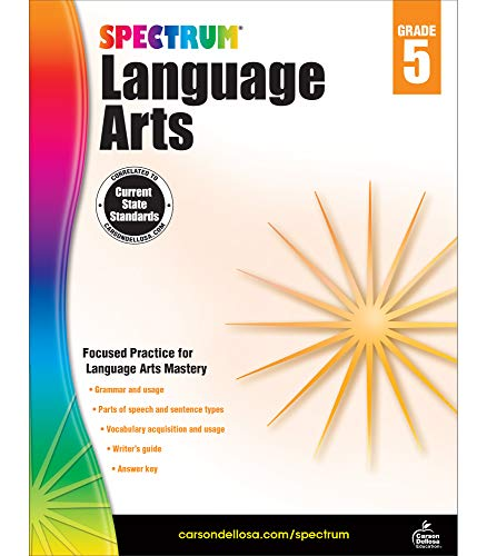Compare Textbook Prices for Spectrum Grade 5 Language Arts Workbook—5th Grade State Standards, ELA Writing and Grammar Practice With Writer's Guide and Answer Key for Homeschool or Classroom 176 pgs Workbook Edition ISBN 9781483812090 by Spectrum