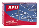 APLI 11915 - Clips mariposa galvanizados nº 20 60 mm, 25 clips