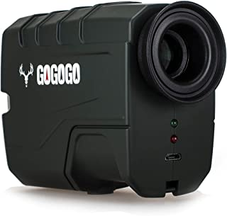 Gogogo Sport Hunting Rangefinder - 650/1200 Yards Laser Range Finder for Hunting and Golf with Speed, Slope, Scan and Normal Measurements - Rechargeable - with USB Cable
