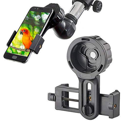 Cell Phone Adapter Mount, Cellphone Smartphone Quick Photography Adapter Mount Compatible Binocular Monocular Spotting Scope Telescope Microscope