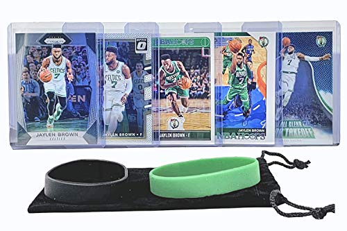 Jaylen Brown Basketball Cards Assorted (5) Bundle - Boston Celtics Trading Card Gift Pack